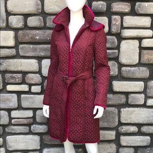 Puffer Coat Burgundy Badgley Mischka NWT sz M/6